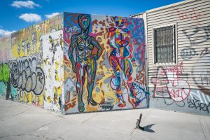 Bushwick is home to many famous street art pieces