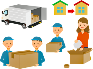 A drawing of professional movers and packers.