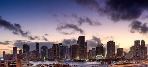 A view of Miami - one of the cites where people from the Upper East Side are going.