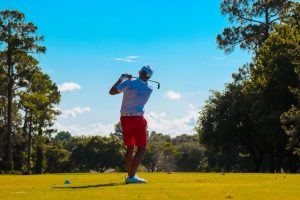 a man playing golf in Florida