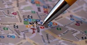 Pencil on the map