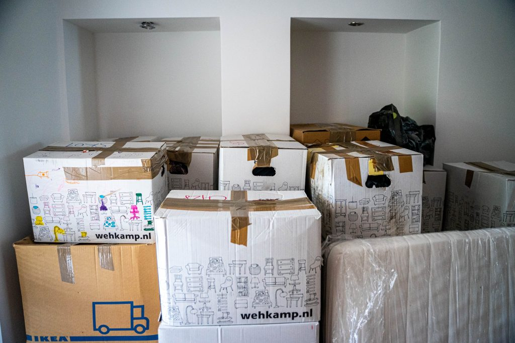 Moving boxes in a room