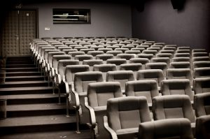 A theater room.
