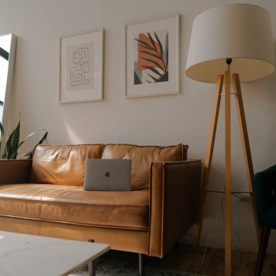 A living room after staging a home.